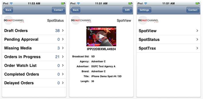 DG FastChannel SpotOn iPhone App